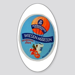 Germany Beer Label 2 Sticker (Oval)