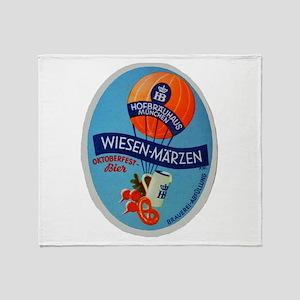 Germany Beer Label 2 Throw Blanket