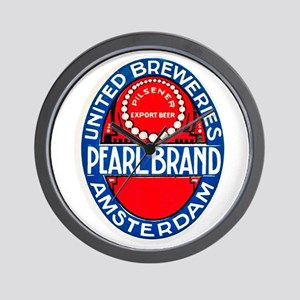Holland Beer Label 12 Wall Clock