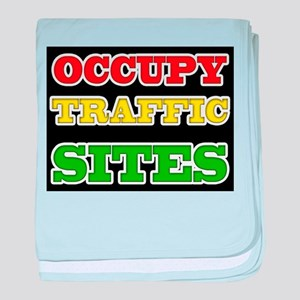 OCCUPY TRAFFIC SITES baby blanket