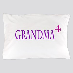 Grandma of Four Pillow Case