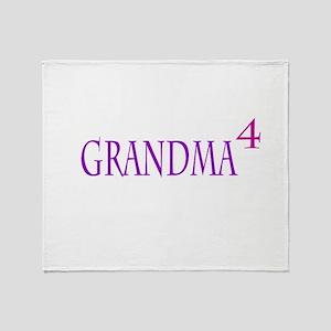 Grandma of Four Throw Blanket
