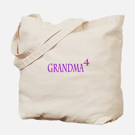 Grandma of Four Tote Bag