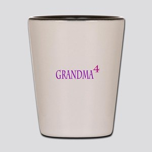 Grandma of Four Shot Glass