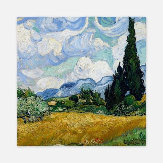 Van Gogh Wheat Field With Cypresses Queen Duvet