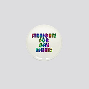 Straights for gay rights - Mini Button