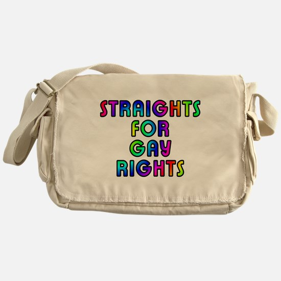 Straights for gay rights - Messenger Bag