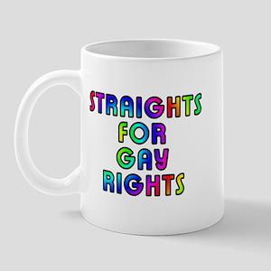 Straights for gay rights - Mug
