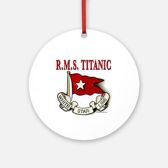 White Star Line: RMS Titanic Ornament (Round)