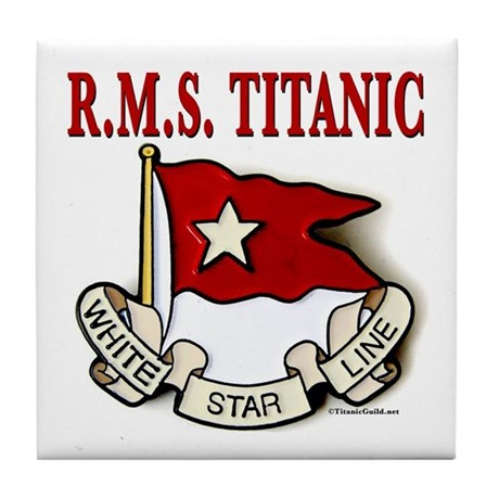 white star line rms titanic tile coaster by momcatdotorgshop1