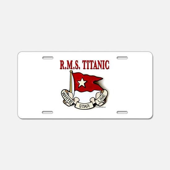 White Star Line: RMS Titanic Aluminum License Plat