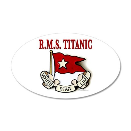 White Star Line RMS Titanic 20x12 Oval Wall Decal  sc 1 st  CafePress & Titanic Wall Decals - CafePress