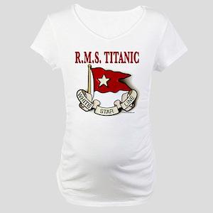 White Star Line: RMS Titanic Maternity T-Shirt