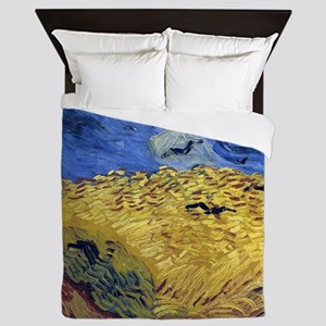 Van Gogh Wheatfield with Crows Queen Duvet