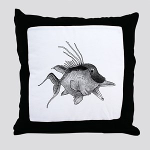 Black and White Hogfish Throw Pillow