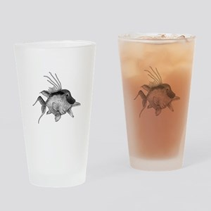Black and White Hogfish Drinking Glass