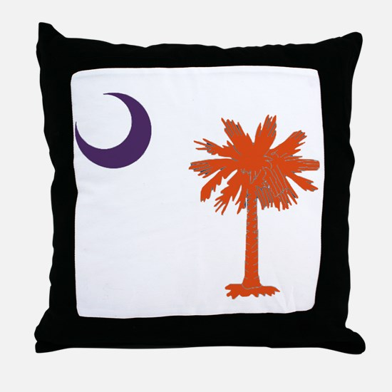 Cute Clemson tigers Throw Pillow