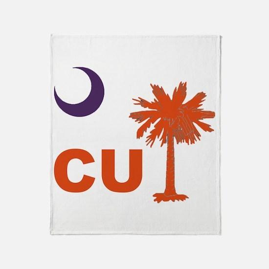 Funny Clemson tigers Throw Blanket