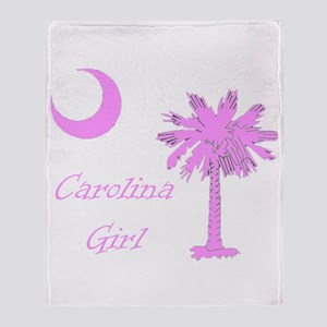 Carolina Girl Throw Blanket
