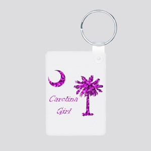 Carolina Girl Pink Aluminum Photo Keychain