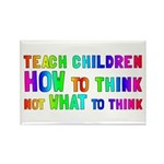 Teach Children How To Think Rectangle Magnet (10 p