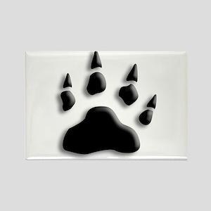 Polar Bear Print Rectangle Magnet
