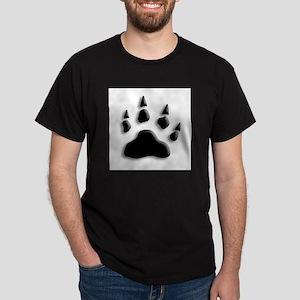 Polar Bear Print Dark T-Shirt