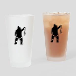 Eskimo Fishing Drinking Glass