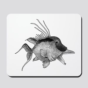 Black and White Hogfish Mousepad