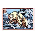 Polar Bear Art Postcards 8 Pk Wildlife Painting