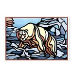 Polar Bear Art Postcards 8 Pk Wildlife Painting