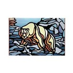Polar Bear Fridge Magnets 10 Wildlife Painting