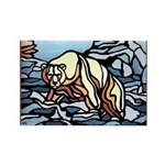 Polar Bear Art Rectangle Magnet (10 pack)