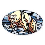 Polar Bear Art Sticker Wildlife First Nations Art