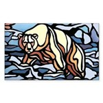 Polar Bear Art Sticker Wildlife Painting