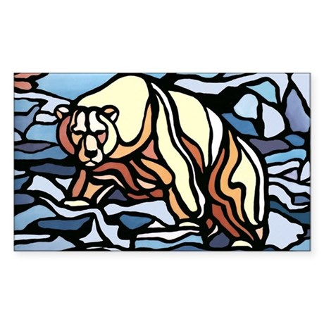 Polar Bear Art Sticker Wildlife Painting