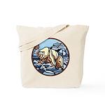 Polar Bear Art Tote Bag Wildlife Painting