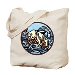 Polar Bear Art Tote Bag Wildlife Painting