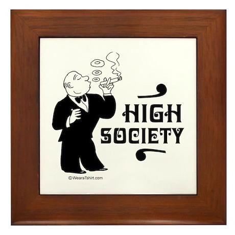 High Society - Framed Tile