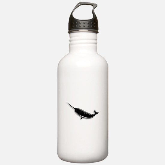 Narwhal Whale Water Bottle