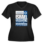 Jerusalem, Israel Women's Plus Size V-Neck Dark T-