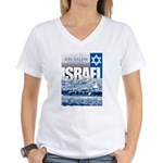 Jerusalem, Israel Women's V-Neck T-Shirt