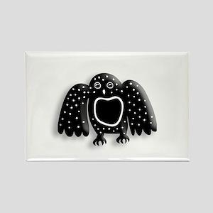 Arctic Owl Rectangle Magnet