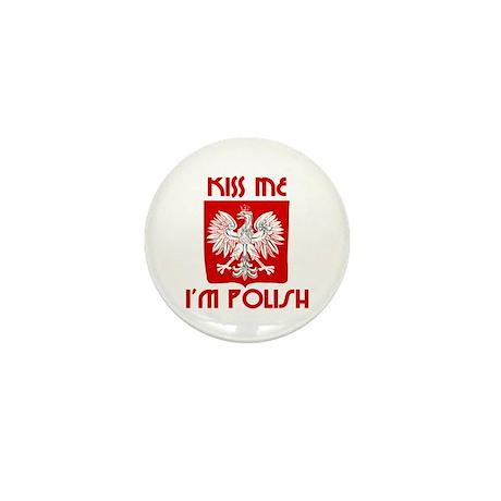 Kiss me, I'm Polish - Mini Button