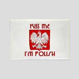Kiss me, I'm Polish - Rectangle Magnet