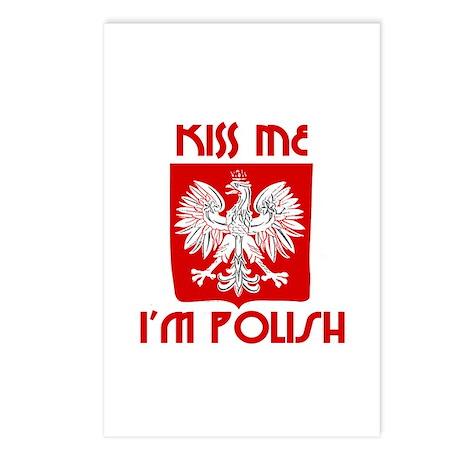 Kiss me, I'm Polish - Postcards (Package of 8)