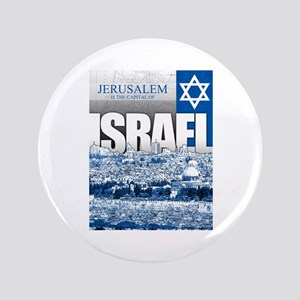 "Jerusalem, Israel 3.5"" Button"