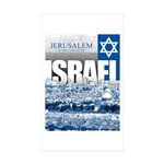 Jerusalem, Israel Sticker (Rectangle 50 pk)