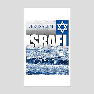 Jerusalem, Israel Sticker (Rectangle)