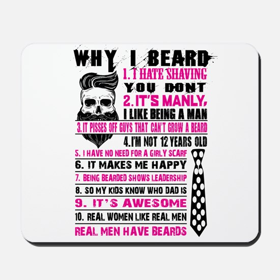 My Super Cool Beard Mousepad
